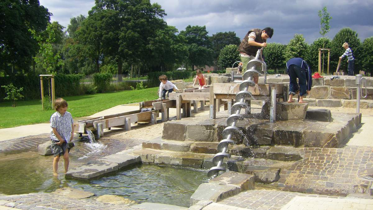 Römischer Wasserspielplatz Archäologischer Park Xanten Axel